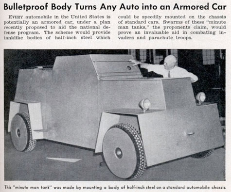 1940s article on armor for everyday automobile