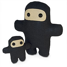 Image of Wee Ninja plush toy designed by Shawn Smith